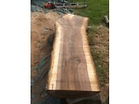 Local sawn wooden boards timber oak walnut yew pine