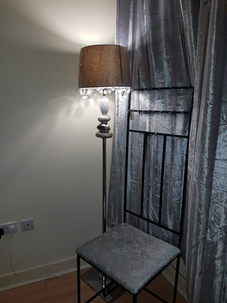Tall City Delivery >> Tall Chair With Silver Crush Fabric Free Delivery In Belfast City Centre Belfast Gumtree