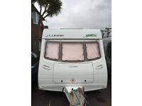 lunar zenith 6 caravan, 6 birth, fixed bunk beds, 2003,