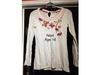 Girls next Top Age 16 long sleeve