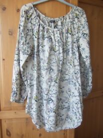 Ladies pretty smock style top Sainsbury's TU size 14/16