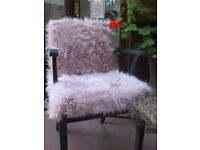 Funky Upcycled Furry Wooden Chair