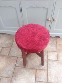 Short solid bar stool