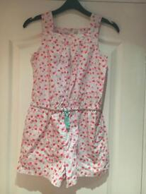 Girls shorts playsuit