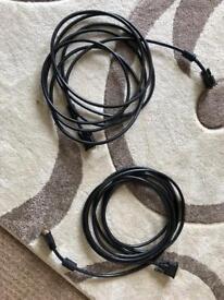 2x 5m DVI cables