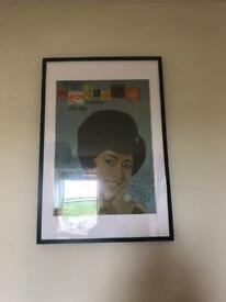 5 large poster frames in excellent condition, used for 1 year