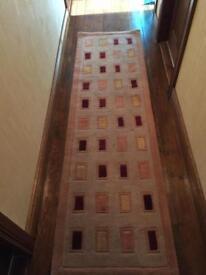 Beige /honey tone hall runner rug