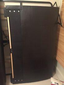 King size ottoman storage bed (dark brown)