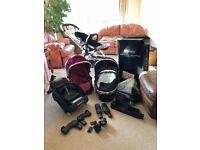 Icandy peach 3 bundle pushchair car seat etc