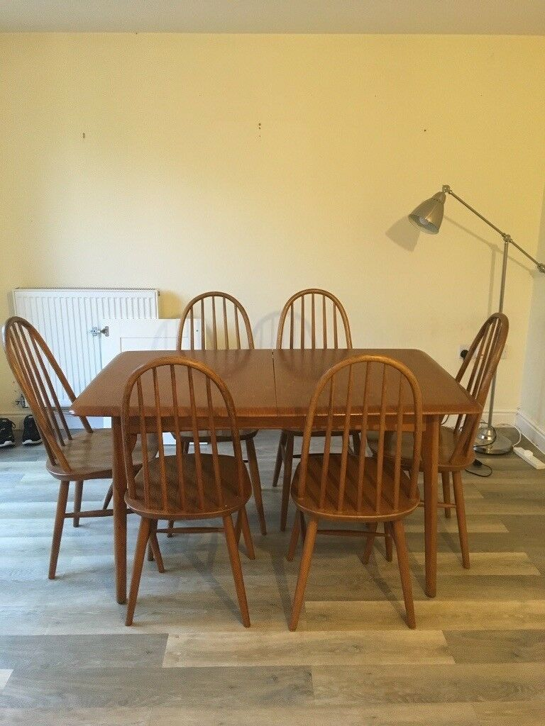 Miraculous Vintage Mid Century Ercol Style Dining Table And Chairs In Calne Wiltshire Gumtree Download Free Architecture Designs Licukmadebymaigaardcom