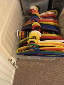 160 Colourful coat hangers