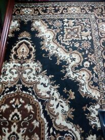 oriental black and gold carpet for sale new
