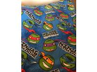 Boys single duvet cover and clothes age 8-9
