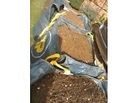Garden top soil ideal for levelling or general planting