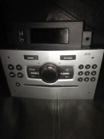 vauxhall corsa d car cd radio stereo with display