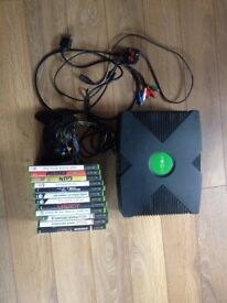 Original Xbox with original controller, leads and 14 games