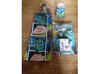 Disney monsters university single duvet, pillow case, curtains and lampshade