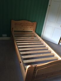 John Lewis single pine bed