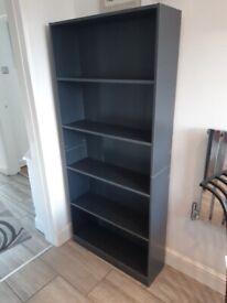 Grey 5 Shelves Bookcase Brand New