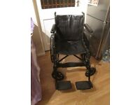 Folding Wheelchair,removeable footrests, no longer required.