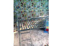 Metal bunk bed no mattress fram only