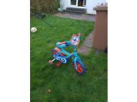 Kids Thomas the Tank Engine Bike with Detachable Stabilizers
