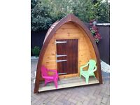 Deluxe play pod, play house, garden shed.