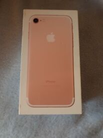New iphone 7 128GB Rose Gold