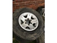 "15"" 4x4 alloys x 5 with all good tyres fit all 6 stud 4x4 vehichles £225 collection only wakefield"