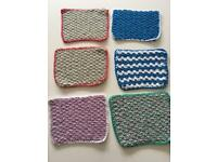 Handmade crocheted 100% cotton facecloths