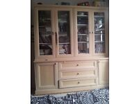 Cupboard/glass cabinet/bookcase/ Bookshelve with matching bottom board Beutiful looking