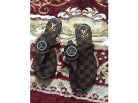 LV ladies flat sandal