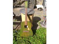 Egmont 1960s Acoustic Dreadnaught Guitar. Recent service by Graham Noden