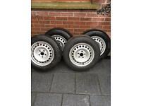 Volkswagen transporter van steel wheels brand new c/w hankook tyres
