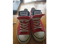 Converse All Star low top, double tongue trainers