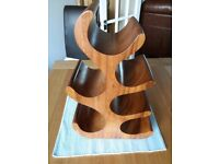 Solid Wood decorative 6 bottle wine rack