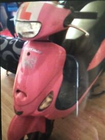 49cc pink moped bicycle. Petrol