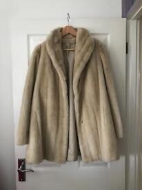 Vintage Faux Fur Coat Size 14