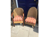 2 x Lloyd Loom Chairs , feel free to view £95 each ... Free local delivery