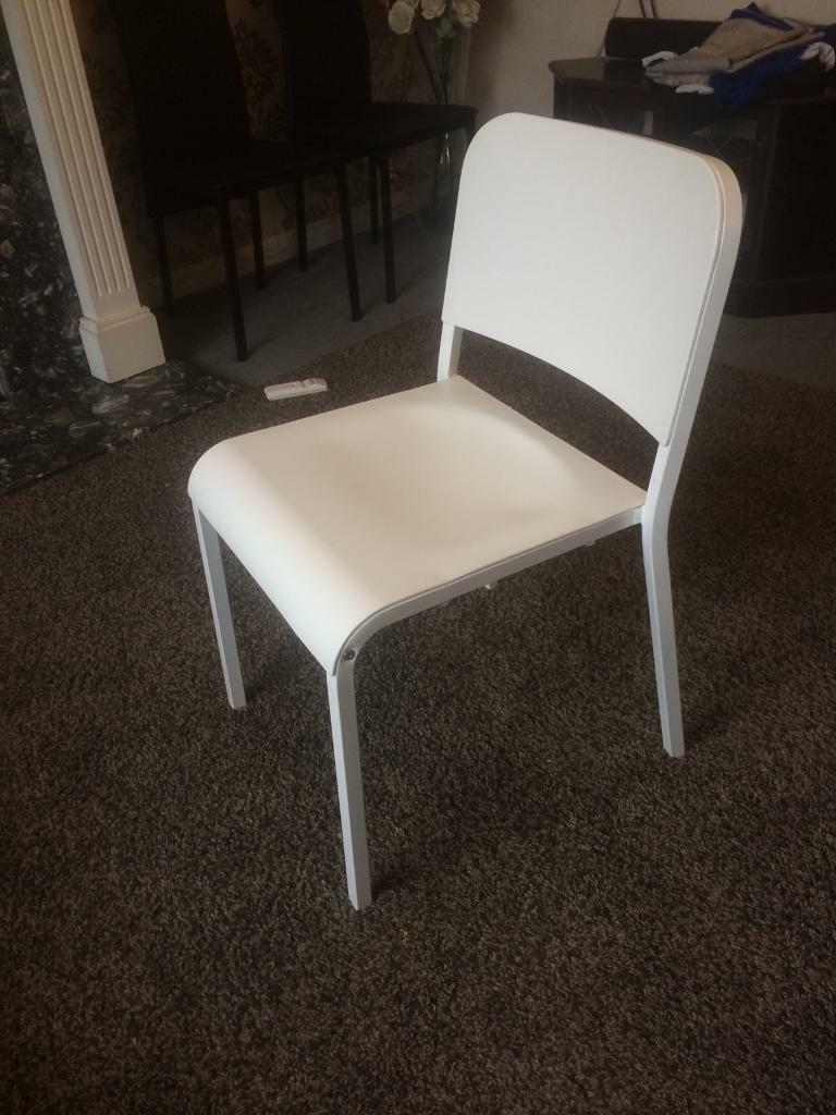 Ikea chairs x 6 stackable to save space. £15 each