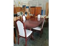 Claxton dining table with four chairs