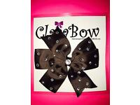 ClaraBow Brown Bow with Diamanté Detailing