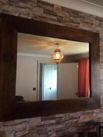 Dark Dakota mango wood mirror
