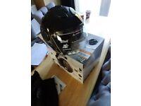 Brand new open face motorbike motorcycle helmet size medium in gloss black colour