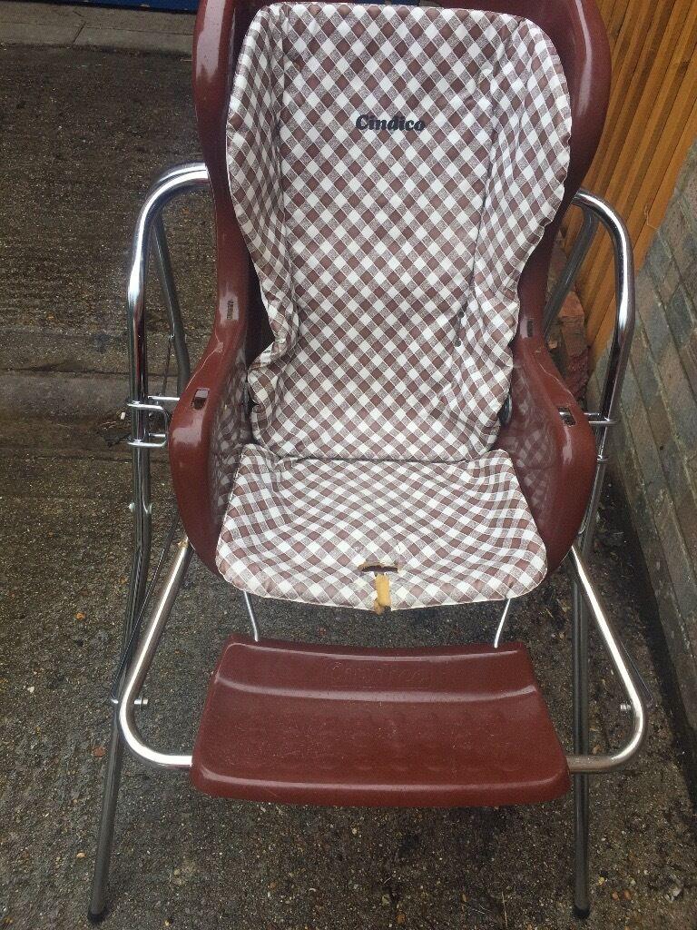 Vintage Retro Cindico Highchair Low Chair Swing