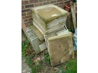 Free concrete pavers 17 - 24 x 24 and 18 (eighteen) 18 x 18inch available.