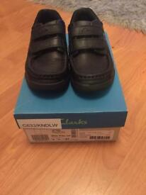 Boys Clarks School Shoes Size 9H Selling as too small, worn Once. PERFECT CONDITION