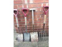 Garden tools shovel spade home diy plants flowers shabby chic home furniture