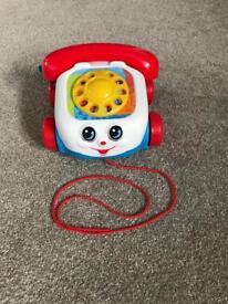 Pull along telephone