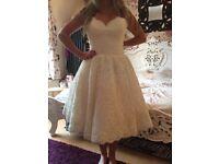 Vintage style wedding dress size 10-12